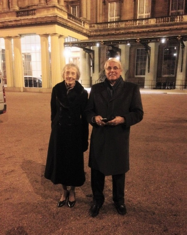 sylvia-phillips-and-tony-overland-at-buckingham-palace