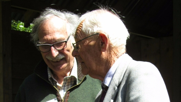 Peter Thoday and Leo Pemberton at Compton Acres