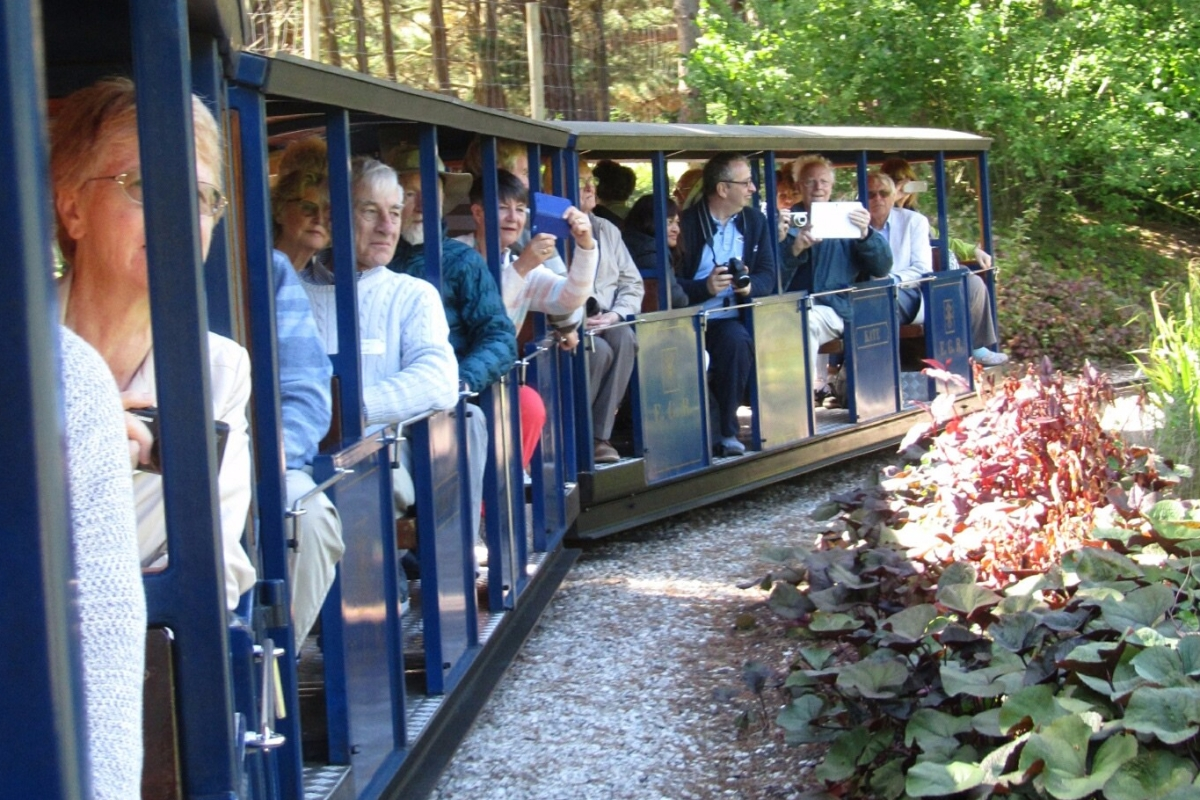 Kew Guild members enjoy the railway at Exbury Gardens