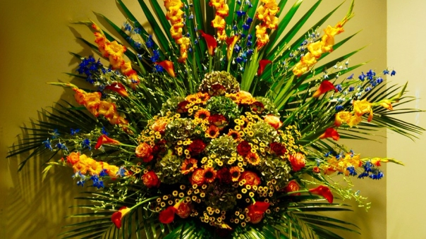 Flower display in Jodrell