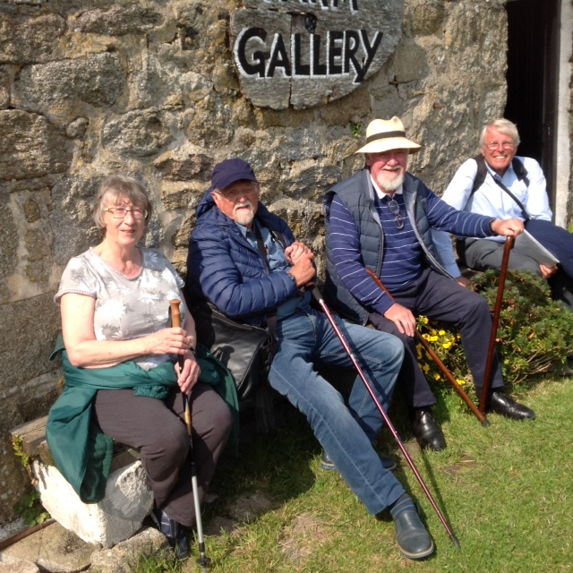 Kew Guild Scilly Isles Visit 2018, members enjoying a rest!