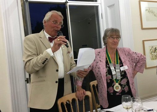 The Kew Guild Annual Dinner 2018, MC Tony Overland and President Jean Griffin