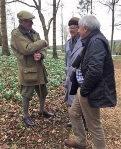 Sir Henry Elwes discussing things Galanthus with Leo Pemberton and Alan Stuttard