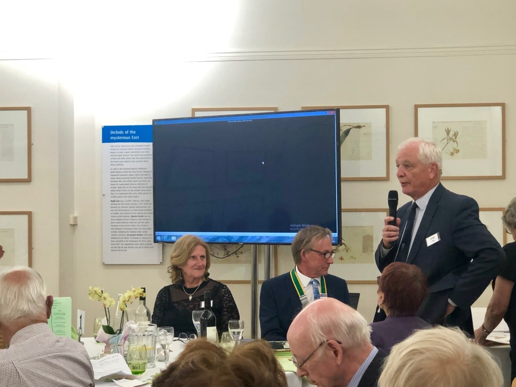 Mike Fitt speaking at the Kew Guild Annual Dinner 2019