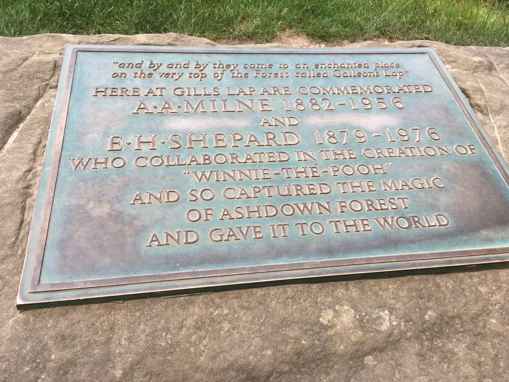 AA Milne Commemoration Plaque