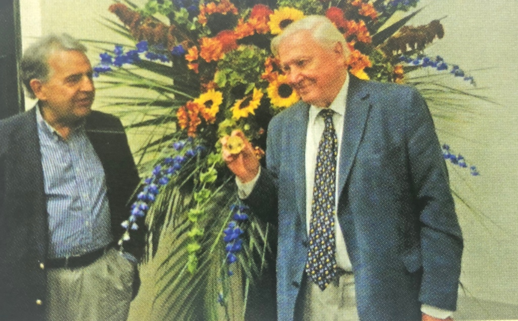 Winner of the 2014 Kew Guild Medal, Sir David Attenborough