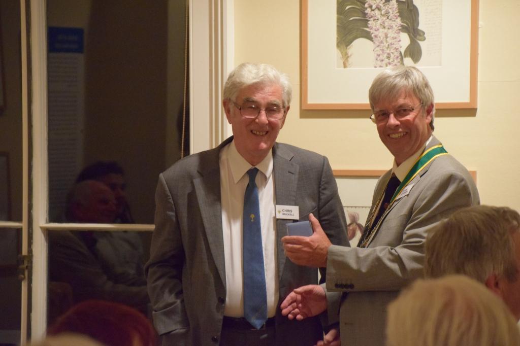 Winner of the 2015 Kew Guild Medal, Chris Brickell